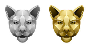 金属美洲狮头 库存图片