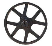 金属老轮子 库存照片