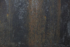 金属老,生锈的板料与无言蓝色油漆的 您的设计的背景 图库摄影