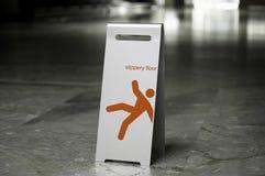 金属自由常设标志溜滑地板 图库摄影