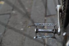 金属自行车脚蹬 免版税图库摄影