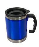 金属蓝色杯子 库存图片