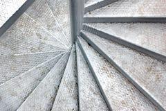 金属螺旋形楼梯 免版税图库摄影