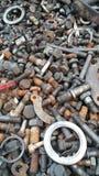 金属螺栓 库存照片