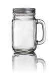 金属螺盖玻璃瓶水杯 库存图片