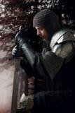 金属装甲的古老骑士 图库摄影