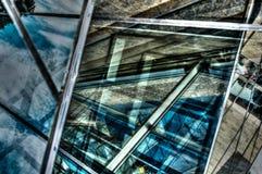 金属金属和玻璃抽象设计 免版税库存图片