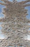 金属钉上艺术设施在车匠霍尔美术画廊在布雷得佛英国 库存照片