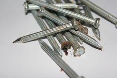 金属钉子 免版税库存图片