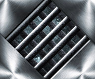 金属钢笼子背景 免版税库存图片