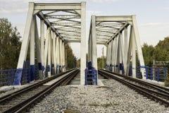金属铁路高架桥 免版税库存图片