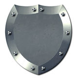 金属银盾 免版税库存照片