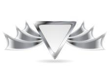 金属银色商标元素 免版税库存照片