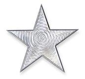 金属银色星形 免版税库存图片