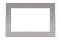 金属银色画框 免版税库存照片