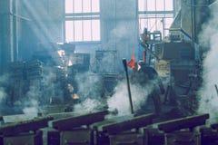 金属铸造厂在拉脱维亚 旅行照片 图库摄影
