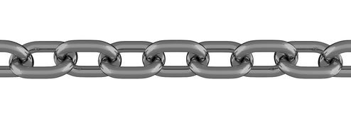 金属链式线被隔绝的3D 库存图片