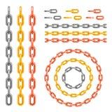 金属链样式刷子传染媒介 向量例证