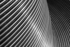 金属长凳 抽象背景镜象 免版税库存照片