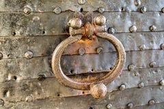 金属门把手超过一百岁 库存照片
