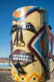 金属雕塑,路旁艺术品 免版税库存照片