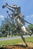 金属雕塑,洛克维尔,马里兰 免版税库存图片