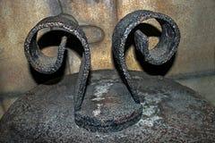 金属雕塑 免版税图库摄影
