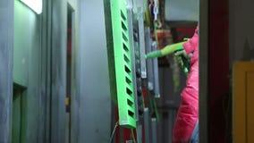 金属零件工业喷漆  股票视频