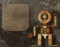 金属零件的机器人 免版税库存图片