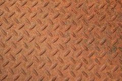 金属面板生锈织地不很细 免版税库存图片