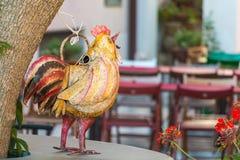 金属鸡 库存照片