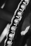 金属齿轮和链子 免版税库存照片