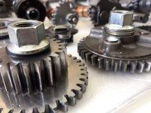 金属齿轮机器 免版税库存照片