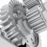 金属轴、齿轮和轴承 向量例证