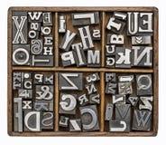 金属类型字母表 免版税库存图片