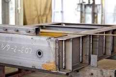 金属结构的各种各样的元素 库存图片