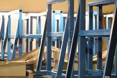 金属结构的各种各样的元素 免版税库存照片