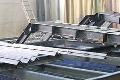 金属结构的各种各样的元素 免版税库存图片
