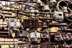 金属细节和大齿轮 库存照片