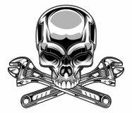 金属头骨 向量例证