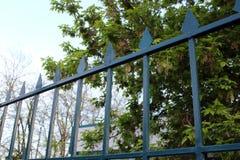 金属fence7 免版税库存照片