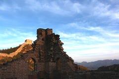 金山岭长城在北京 免版税库存图片