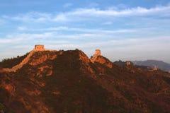 金山岭长城在北京 库存图片