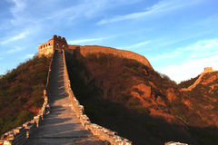 金山岭长城在北京 免版税库存照片