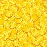 金币的无缝的样式 也corel凹道例证向量 免版税库存图片