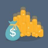 金币象标志企业财务金钱概念传染媒介 向量例证