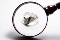 金戒指 库存图片