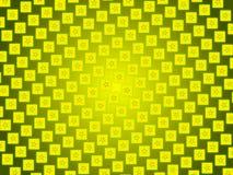 金抽象背景、微粒星和正方形 库存照片
