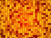 金抽象背景,微粒正方形 免版税库存照片