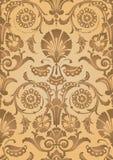 金抽象花卉样式背景 免版税库存照片